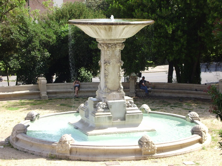 Fountain in borghese gardens roma rome pinterest