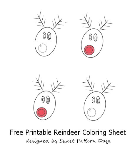 Reindeer Pictures to Color | Christmas Printables | Pinterest