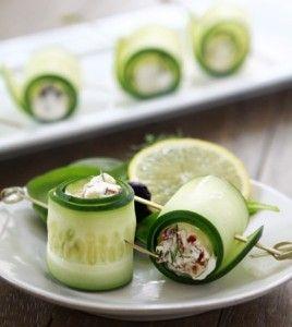 Cucumber Feta Rolls | recipes | Pinterest