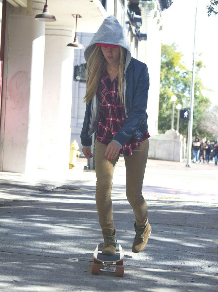 Girl Skater Style On Board Or Die Pinterest
