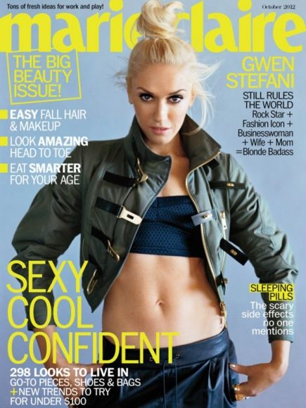 Gwen Stefani looks rockin' on the cover of Marie Claire.