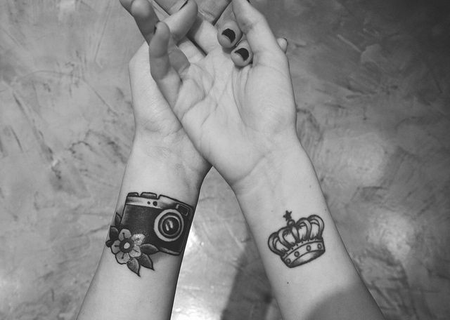 Crown wrist tattoos for men - photo#27