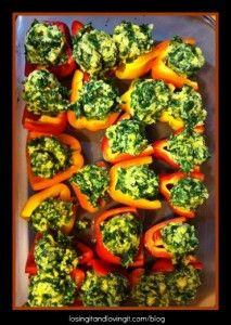 Polenta Stuffed Mini Peppers. uh-huh! | foooood | Pinterest