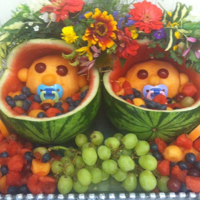 Twins baby shower fruit salad | Events | Pinterest