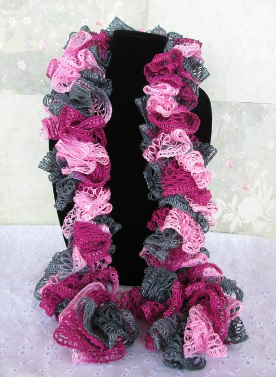 Crochet Ruffle Scarf Accessories are Necessities Pinterest