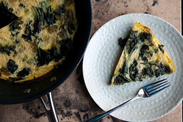 Frittata with Braised Mustard Greens. It's pretty much the perfect ...