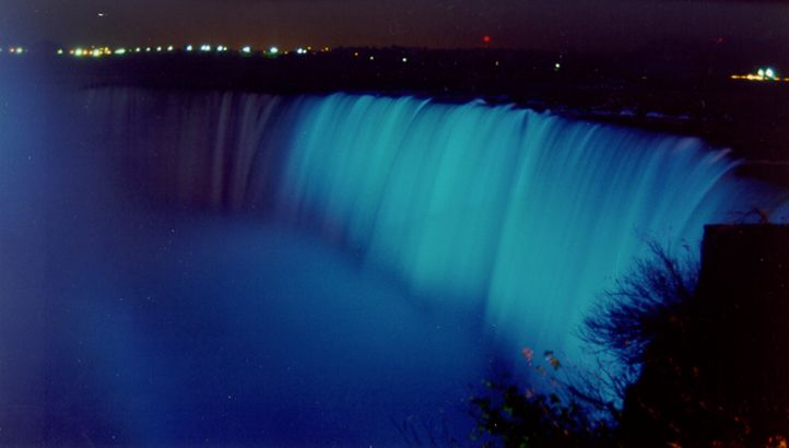 Niagra Falls Light It Up Blue for Autism Awareness