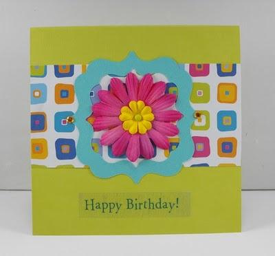 bright Happy Birthday handmade card by Blissmade Designs