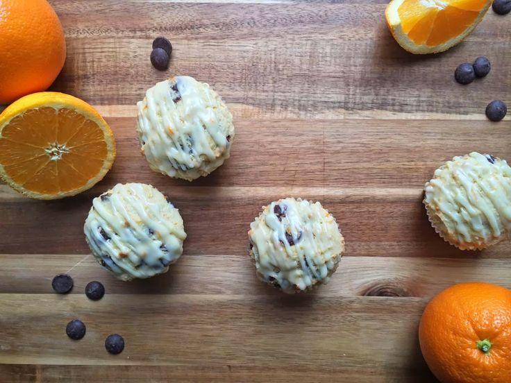 Orange Ricotta Chocolate Chip Muffins | Ashley Marie's Kitchen | Pint ...