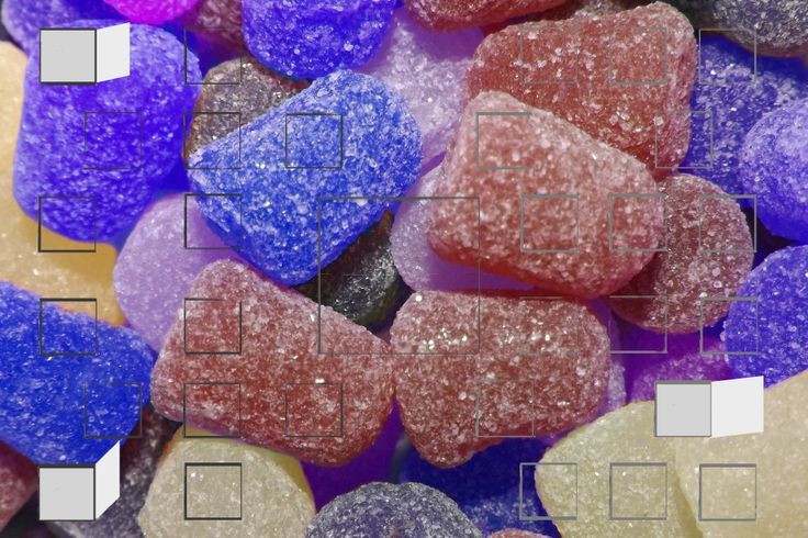 Red, white, and blue sugar plums decorate this sparkly Q-Bon Calendar ...