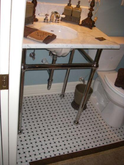 support for pedestal sink Decorative Bathroom Ideas Pinterest