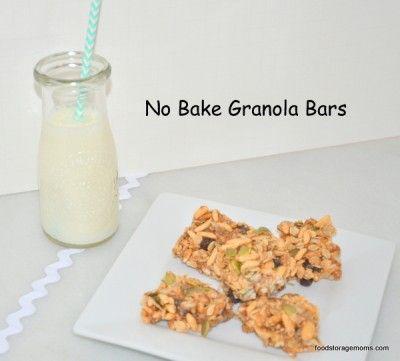 No Bake Healthy Granola Bars By Food Storage Moms
