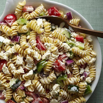 Greek pasta salad | Salads and Salad Dressings | Pinterest