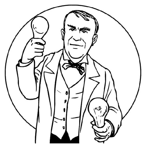 Thomas Edison Free Coloring Pages Edison Coloring Page