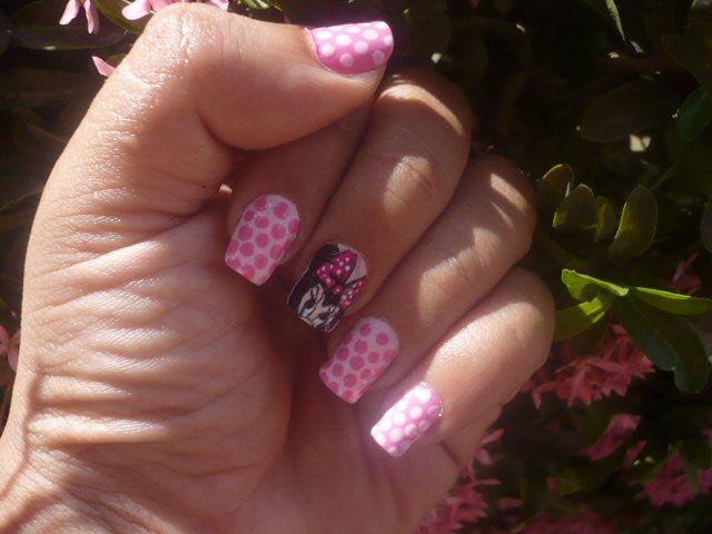 Minnie Mouse   Diseño de uñas   Pinterest