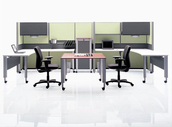 shared workspace with enough separation for privacy in individual work