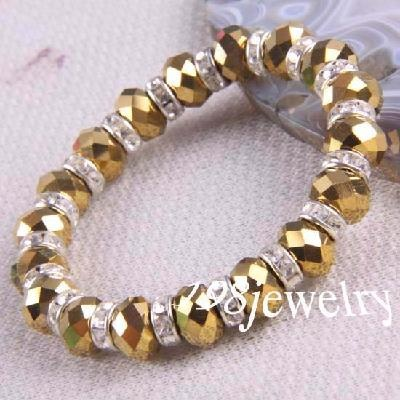 gold crystal bead stretch bracelet jewelry designs pinterest