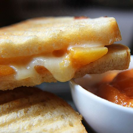 Cheddar Peach Grilled Cheese Sandwich | Grilled cheese sandwiches | P ...