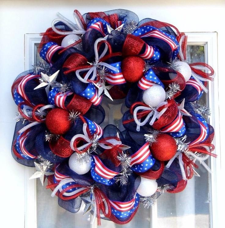 july 4th mesh wreaths