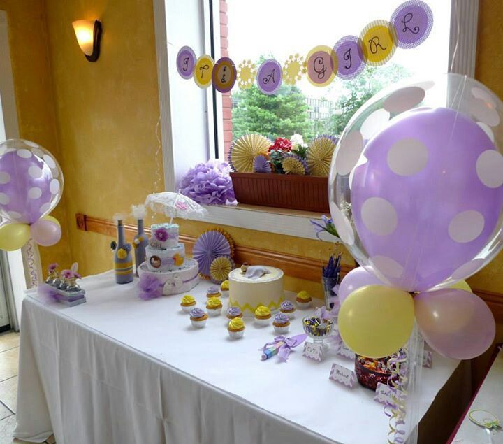 lavender yellow baby shower for a friend baby shower ideas