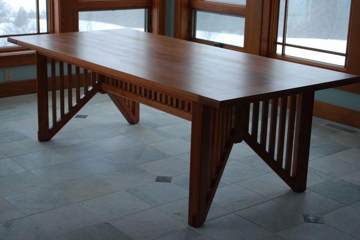 White Oak Dining Table Wright Oak Dining Table Pinterest