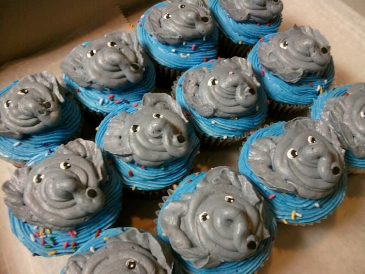Baby Shower Cupcakes Elephant ~ Elephant cupcakes baby shower pinterest