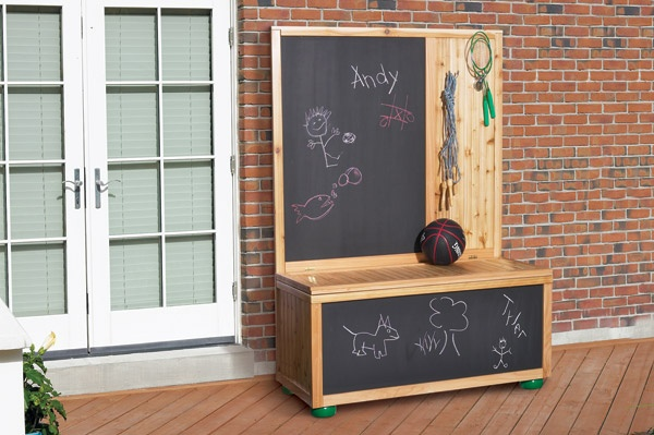 Chalkboard With Toy Box Plans, Chalkboard, Free Engine ...