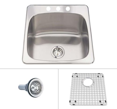 ... Acero Drop-In Stainless Steel Laundry/Utility Kitchen Sink at Menards