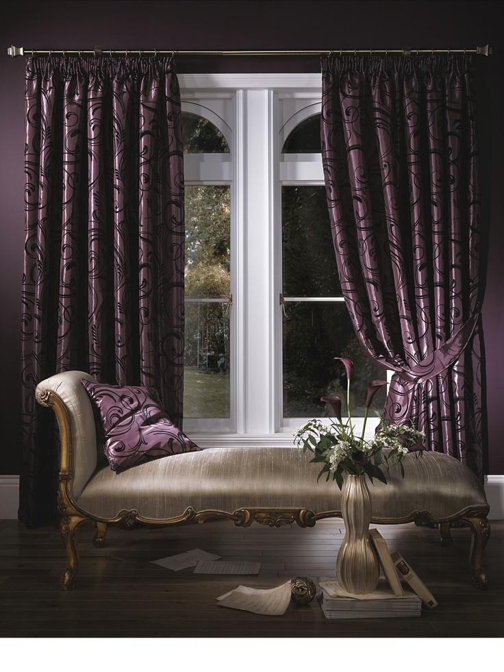deep purple curtain luxury bedroom inspiration pinterest