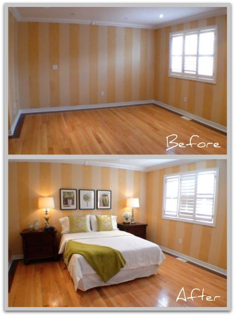 Staged Living Room Before And After Inspiration