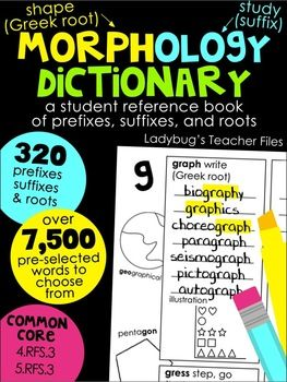 Morphology Dictionary: A Student Reference Book of Prefixe