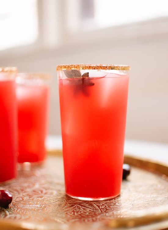 Fresh Cranberry Margaritas