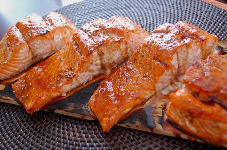 Pomegranate-Orange glazed Cedar Salmon | Pescetarian ...