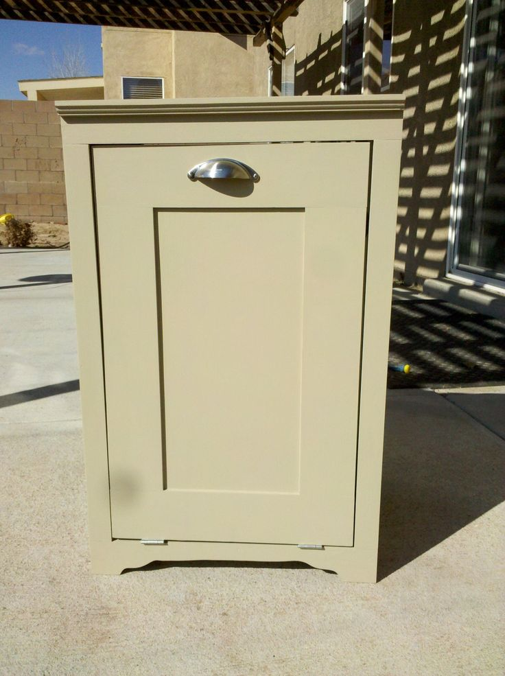 Trash Can Cabinet For The Home Pinterest