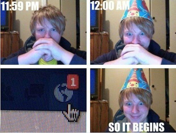 Every birthday.
