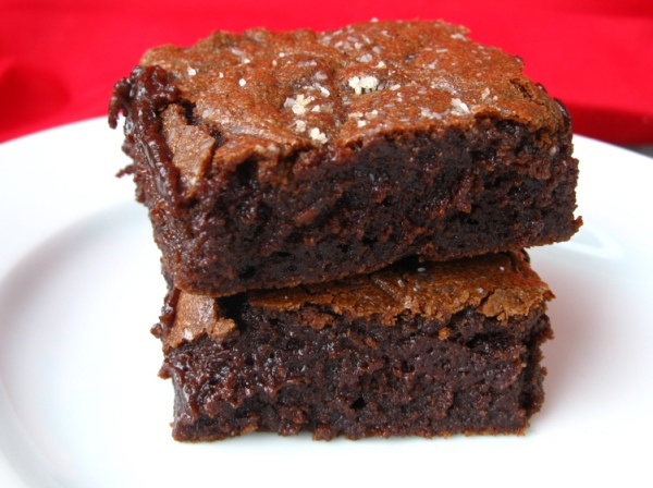 Salted Fudge Brownies | Cocoa | Pinterest