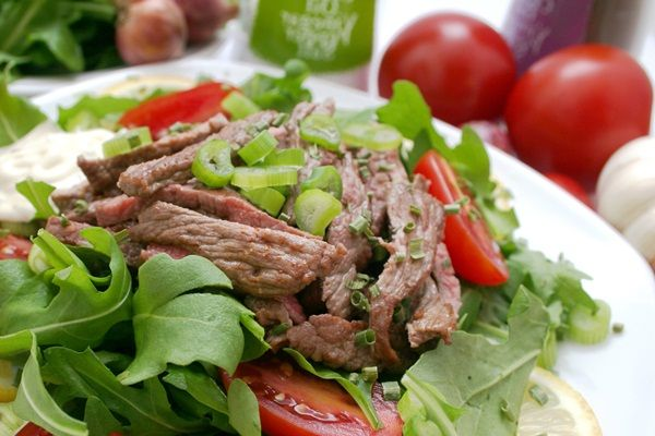 Taco Steak Salad w/ Ginger Lime Dressing | Recipe