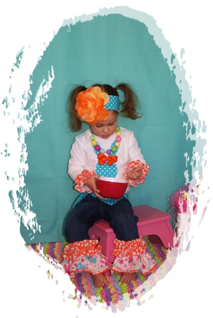 Girl Easter Denim Outfit ... Easter Clothing Children