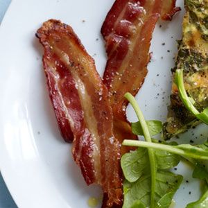 Brown Sugar-Glazed Bacon...two ingredients, 8 mins of prep and you're ...