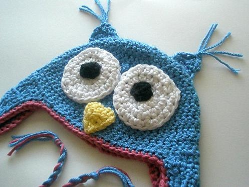 Blue owl Hat-Custom Made to Order-newborn to adult