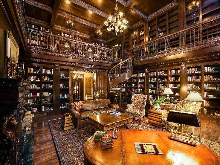 Dream Home Library Cozy Home Ideas Pinterest