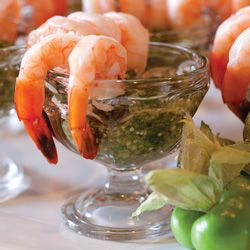 Shrimp With Green Cocktail Sauce | Appetizers And Dips | Pinterest