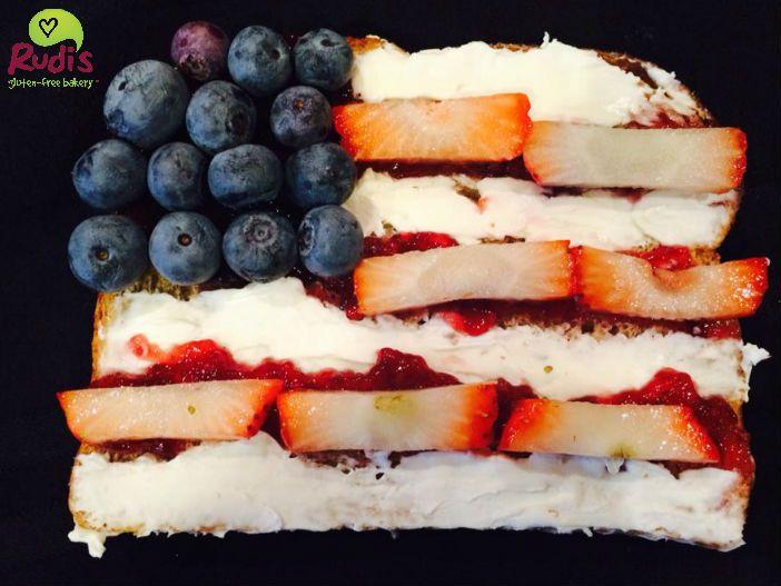 ... July breakfast toast on Rudi's Gluten-Free Multigrain sandwich bread