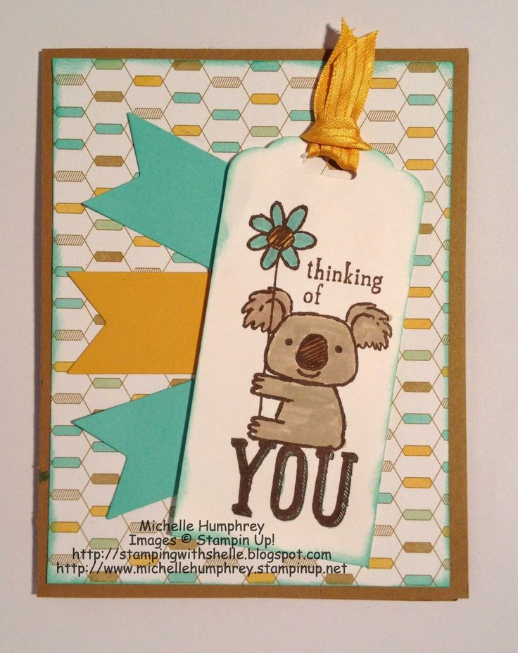 Stamping with Shelle: Kind Koala - Thinking of You.  #stampinup
