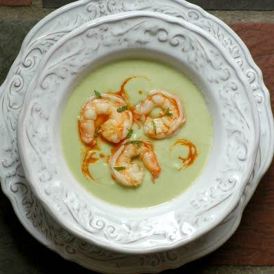 Cucumber-avocado soup with spicy shrimp | Pretty Tastes Better | Pint ...