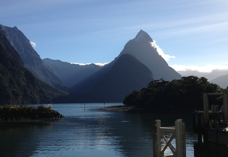 My pic of Mitre Peak in stunning Milford Sound, New Zealand.  May 2012.  855.680.LOVE