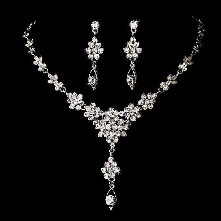 sparkling wedding or prom jewelry set