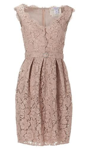 Collette Dinnigan Peach Sleeveless French Garden Lace Dress -