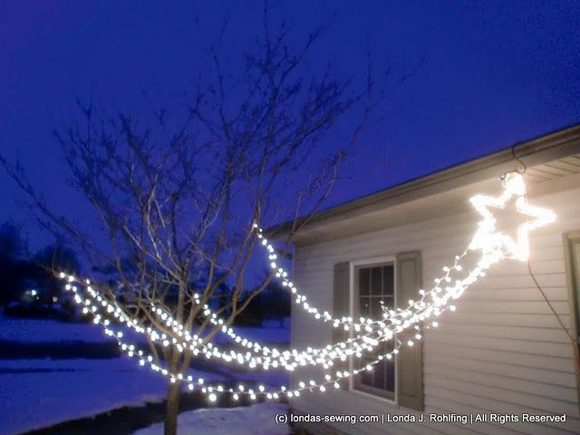 outdoor christmas stars decorations for house