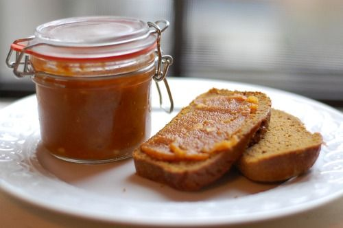 Honey Ginger Pumpkin butter - looks like fall in a bottle
